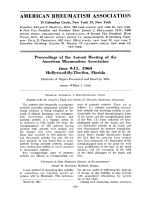 Proceedings of the Annual Meeting June 1960.
