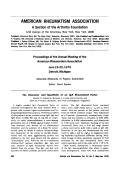 Proceedings of the Annual Meeting of the American Rheumatism Association.