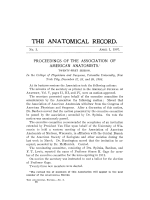 Proceedings of the Association of American Anatomists. Twenty-first session