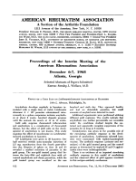 Proceedings of the interim meeting of the american rheumatism association December 6-1 1968 Atlanta Georgia.