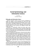 Social epistemology and information science.