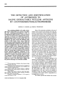 The detection and identification of antibodies to saline extractable nuclear antigens by counterimmunoelectrophoresis.