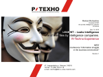 LEAKINT – Leaks Intelligence. Use of leakfiles byintelligence companies. R-Techno Experience