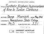 SYNTHETIC ALIPHATIC HYDROCARBONS OF NINE TO TWELVE CARBONS